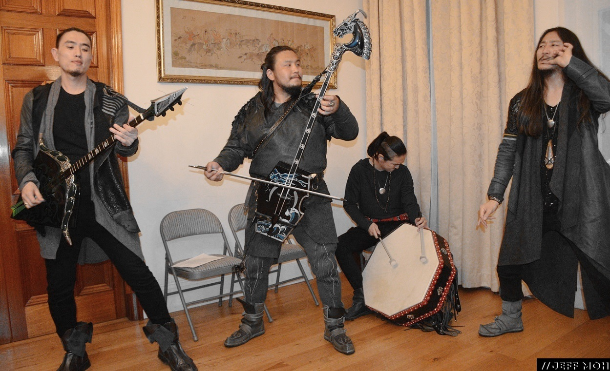 THE HU live at the Mongolian Embassy